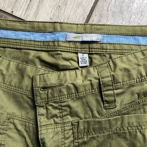 Toad and Co green shorts
